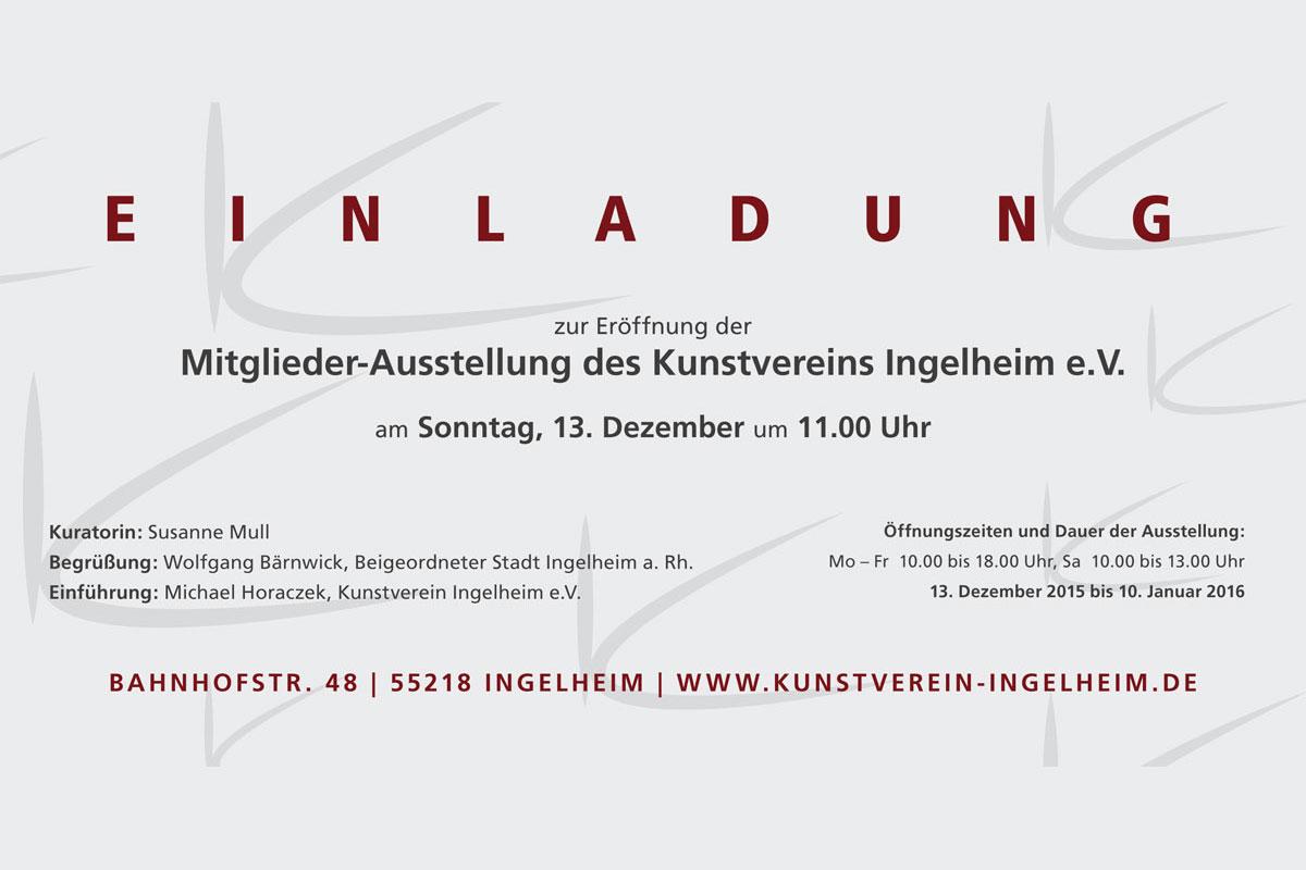 """Einladung zur Mitgliederausstellung """"Rhein"""" - Kunstverein Ingelheim"""