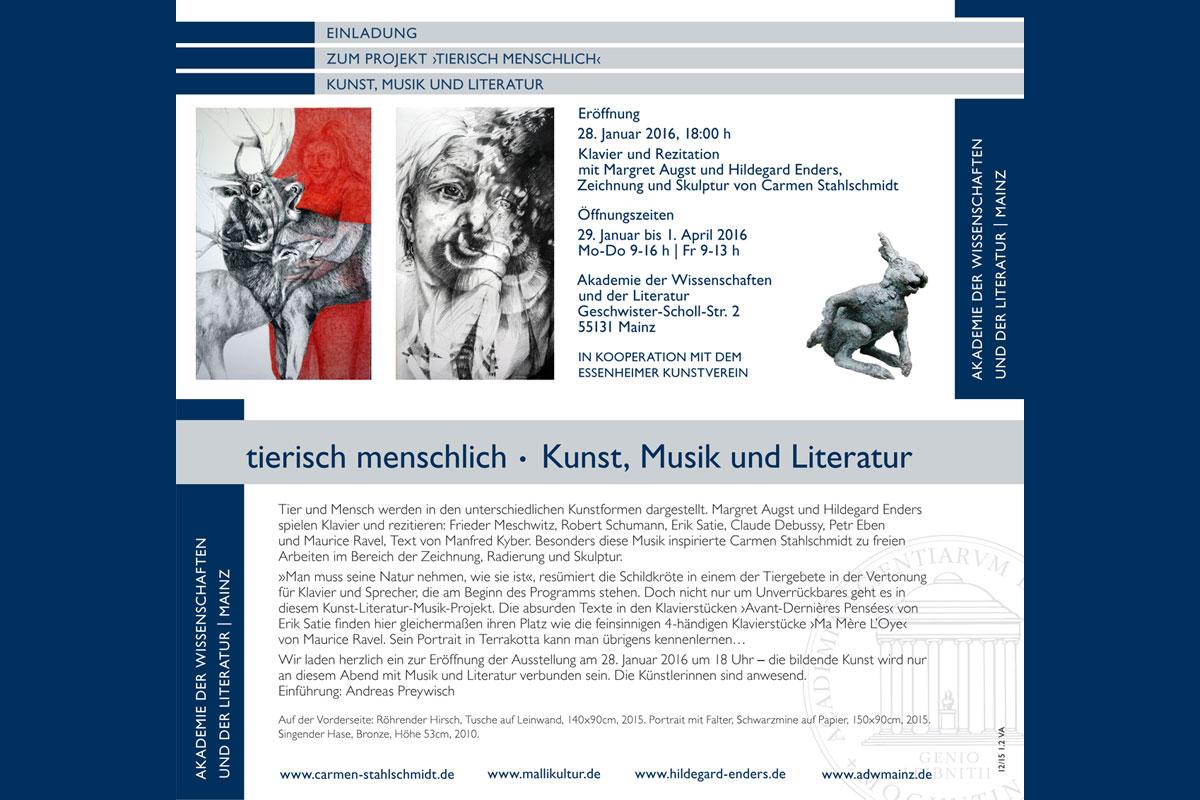 Carmen Stahlschmidt: Tierisch menschlich