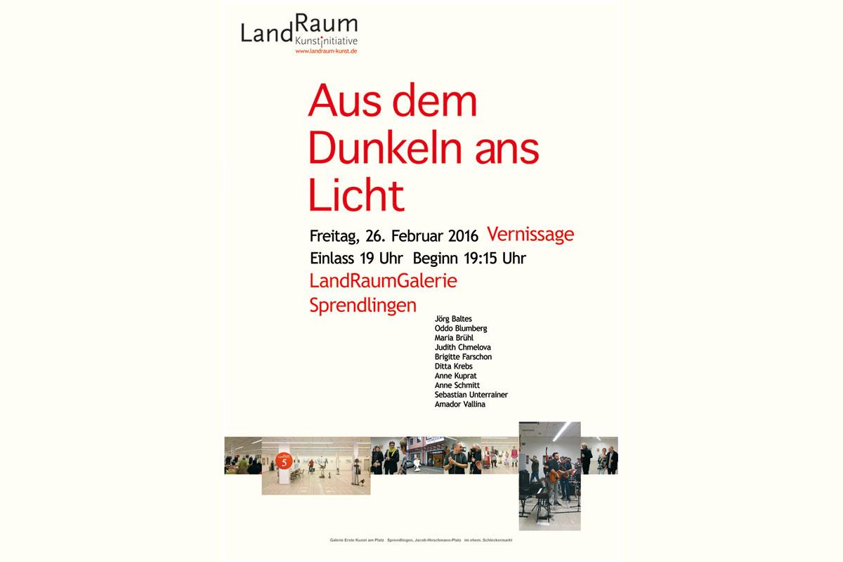 """Ausstellung """"Aus dem Dunkeln ans Licht"""", LandRaum_Kunst, Sprendlingen"""