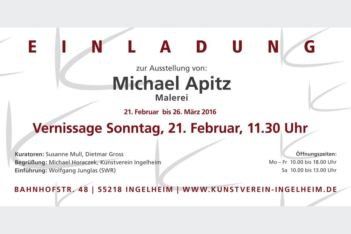 """Ausstellung Michael Apitz """"Malerei"""", Kunstverein Ingelheim"""