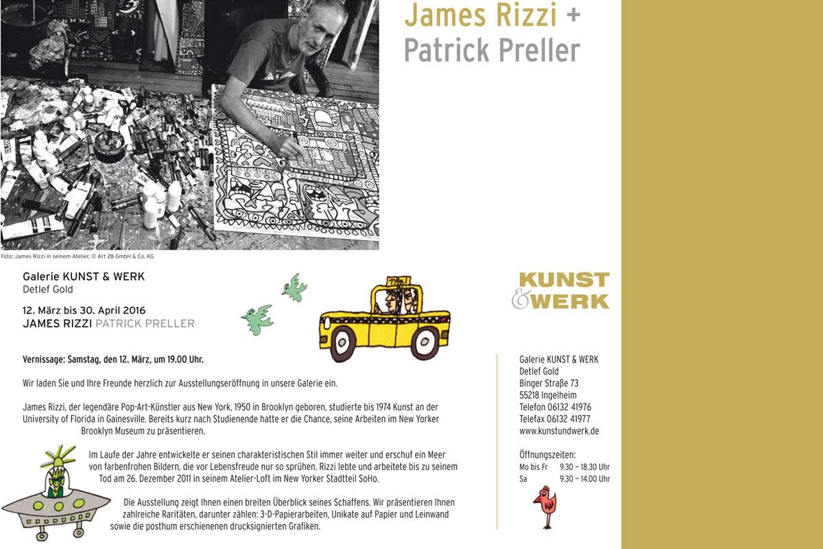 James Rizzi + Patrick Preller - Einladung