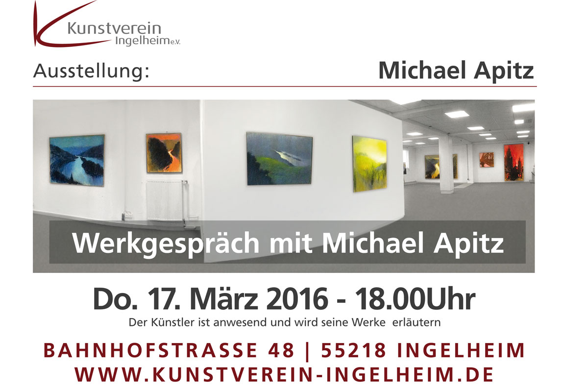 Kunstverein Ingelheim: Werkgespräch Michael Apitz