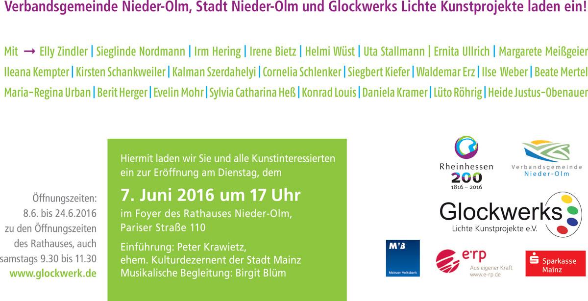 Glockwerker stellen aus: Rheinhessen, Einladung