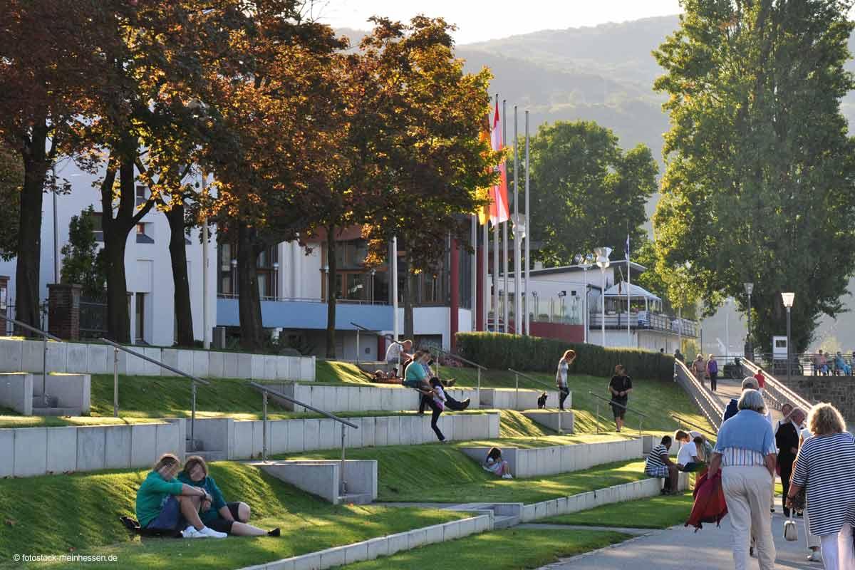Wiesentreppen vor dem Museum am Strom in Bingen