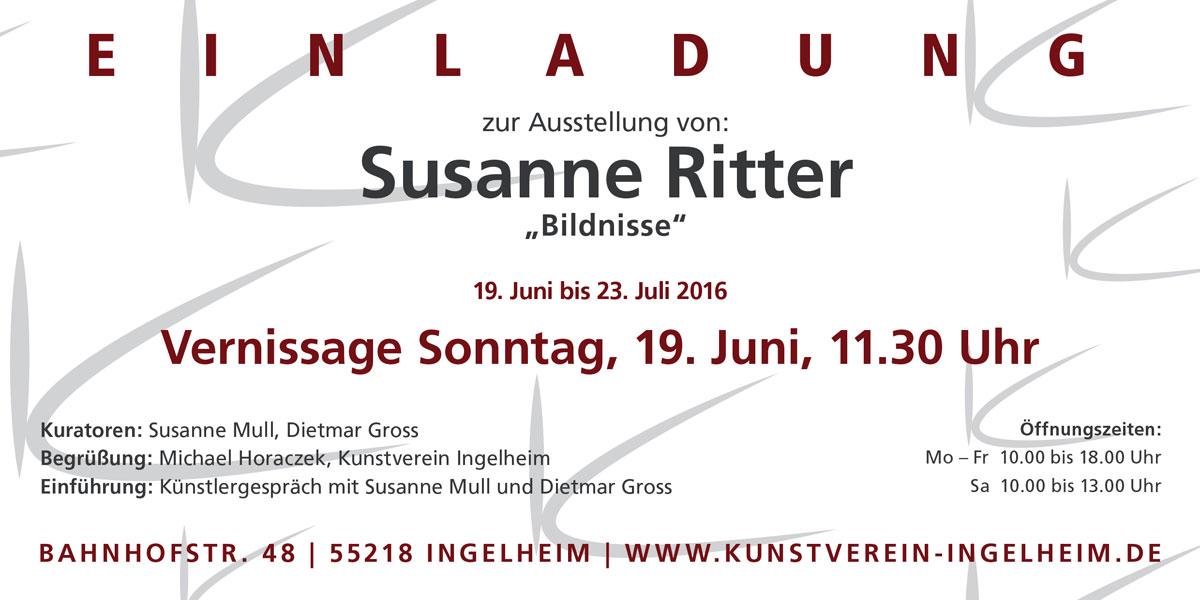 """Susanne Ritter """"Bildnisse"""" Einladung"""