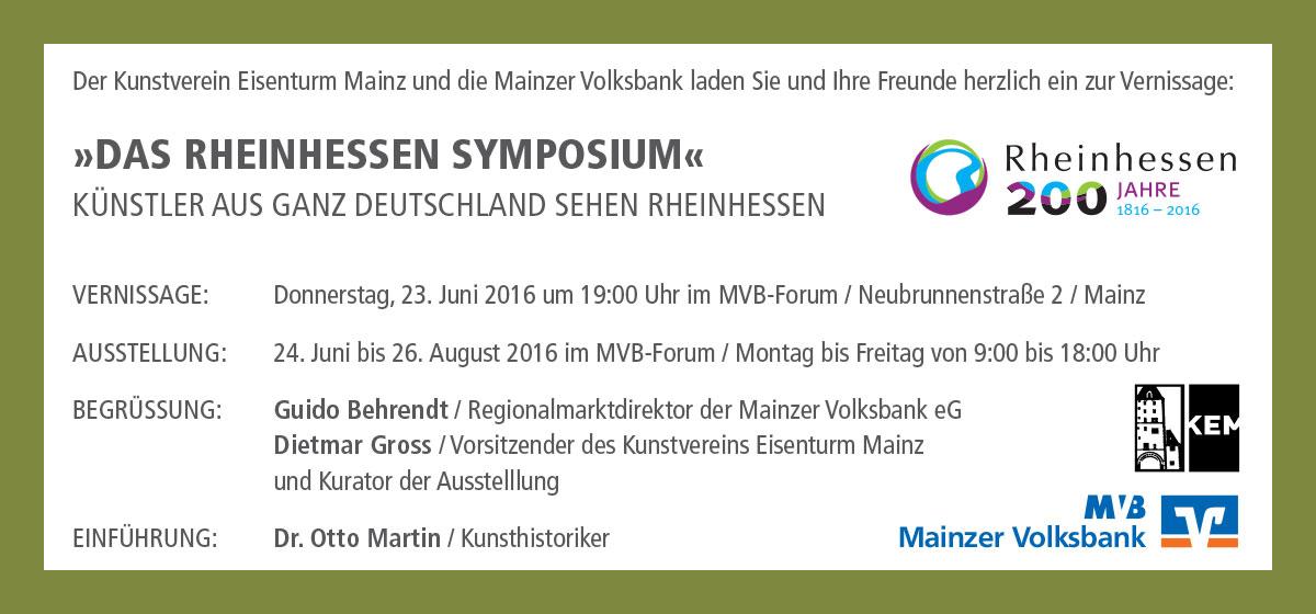 Das Rheinhessen Symposium, MVB Forum Mainz, Rückseite