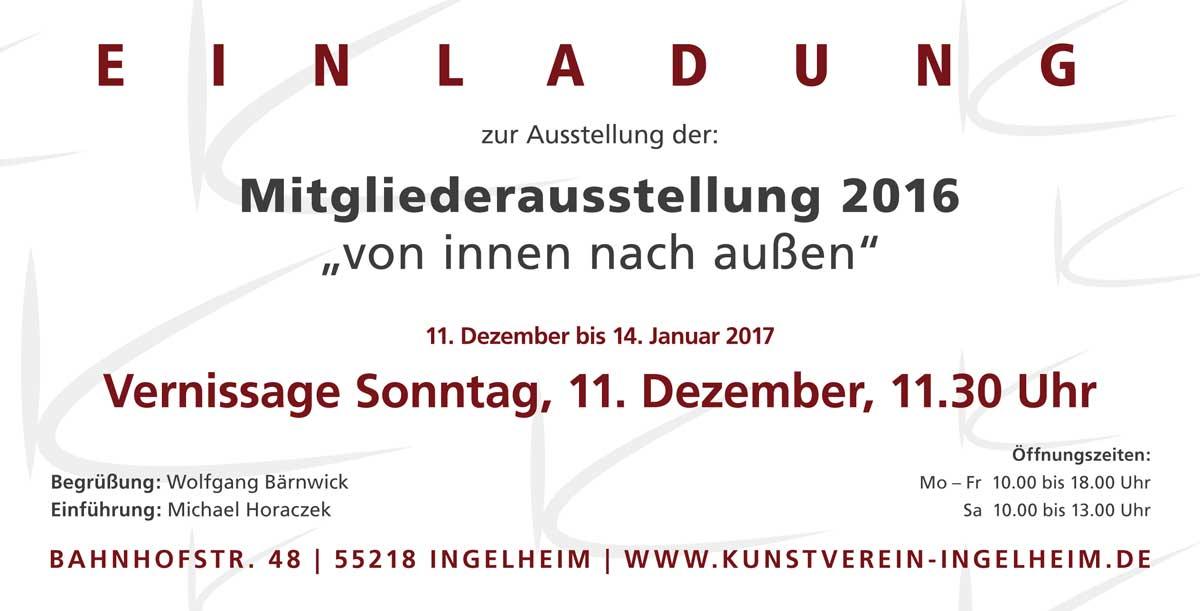 von innen nach außen – Mitgliederausstellung des Kunstvereins Ingelheim