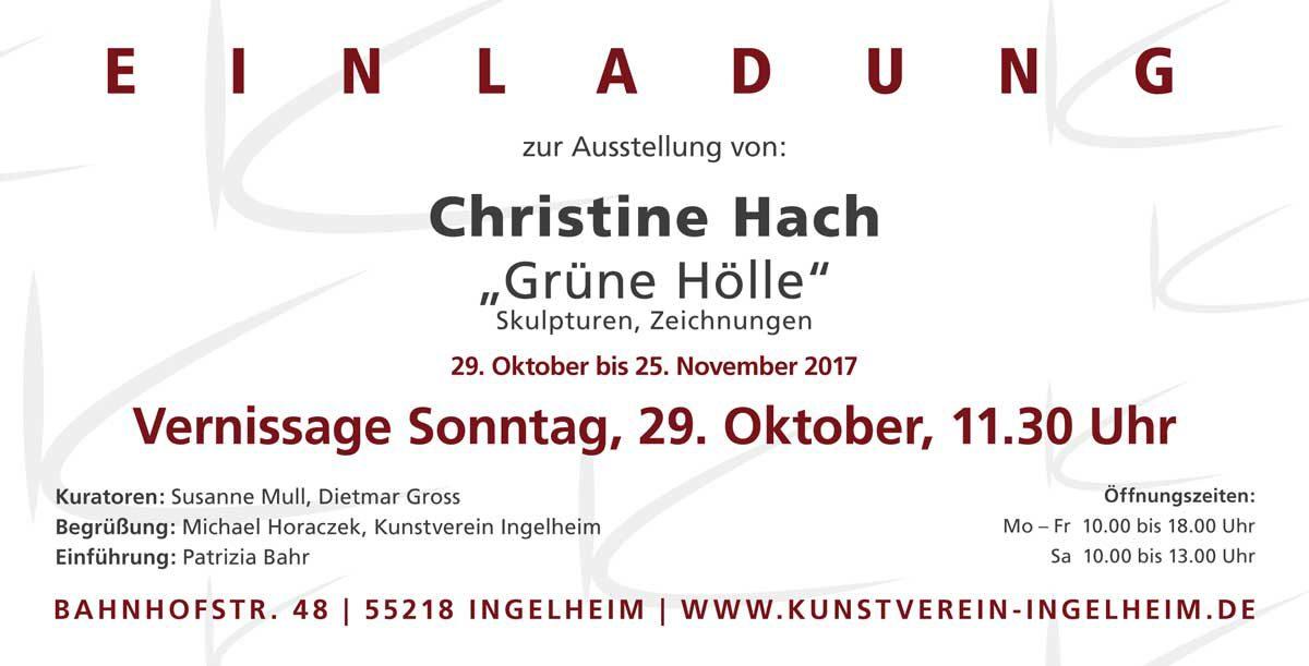 "Christine Hach ""Grüne Hölle"""