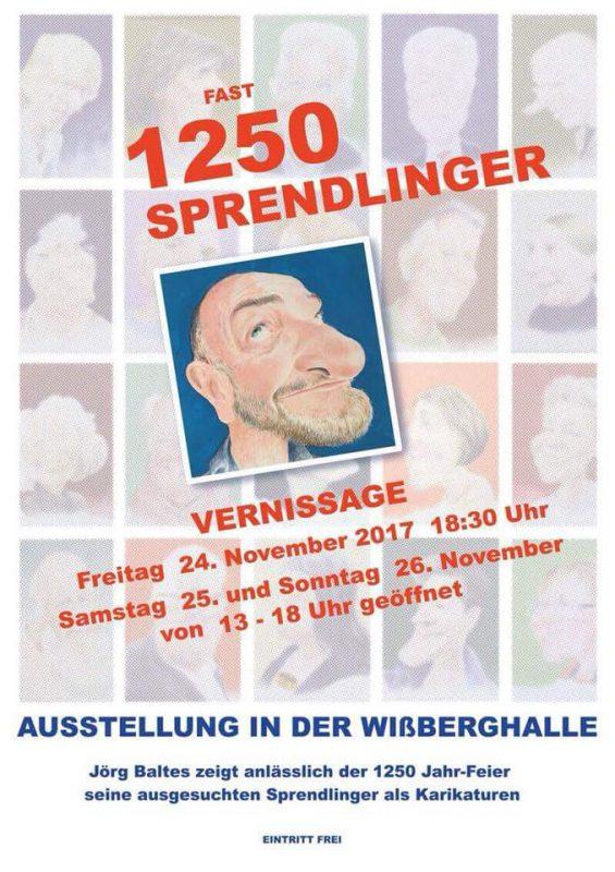 "Jörg Baltes ""Fast 1250 Sprendlinger"" - Karikaturen"