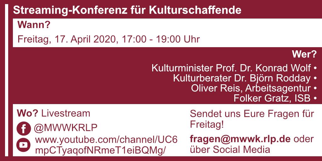 Streaming-Konferenz für Kulturschaffende